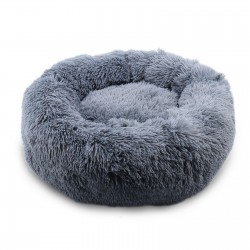 Cat Bed Pet Bed Fluffy Plush Pet Bed Cushion Cuddle Cozy Pet Nest Pet Sofa Round Basket Bed Sleeping Bed Mat