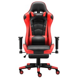 Classic Red |Gaming Chair with Footrest/Computer Chair