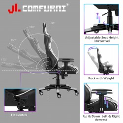 JL Comfurni | Classic Series | Gaming Chair/Computer Chairs/ Swivel Leather Desk Chair [S06]
