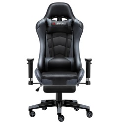 Classic Grey | Gaming Chair with Footrest/Computer Chairs