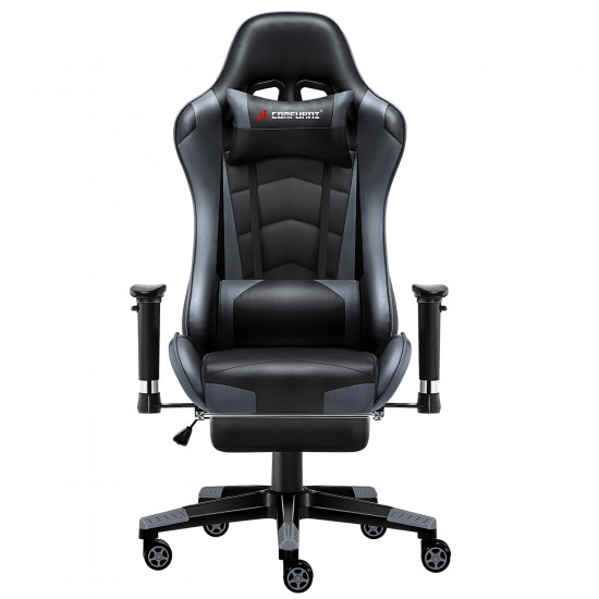 JL Comfurni | Classic Grey | Gaming Chair with Footrest/Computer Chairs [S07+JDBK]