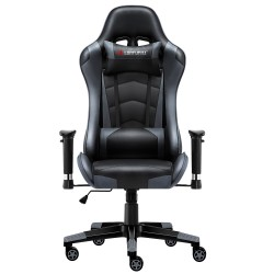 JL Comfurni | Classic Grey| Gaming Chair/Computer Chairs/ Swivel Leather Desk Chair [S07]