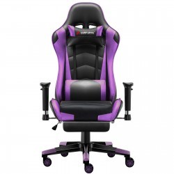 Classic Purple | Gaming Chair with Footrest/Computer Chairs
