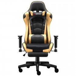 Classic Gold | Gaming Chair with Footrest/Computer Chairs