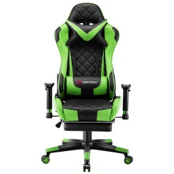 Athena Argyle Green | Gaming Chair With Footrest/Computer Desk Chair