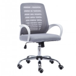 Ergonomic  Home Office Mesh Chair with Rocking Control - Grey