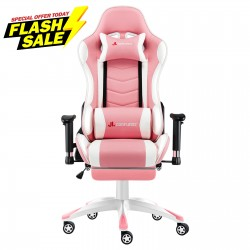 Narkissos Series| Gaming Chair with Footrest [ND2-PKW+JDPINK]
