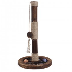 Cat Scratching Post,Cat Bed,Cat Toys with Hanging Teaser Toy for Small Cats, Cat Tree Tower for Climbing